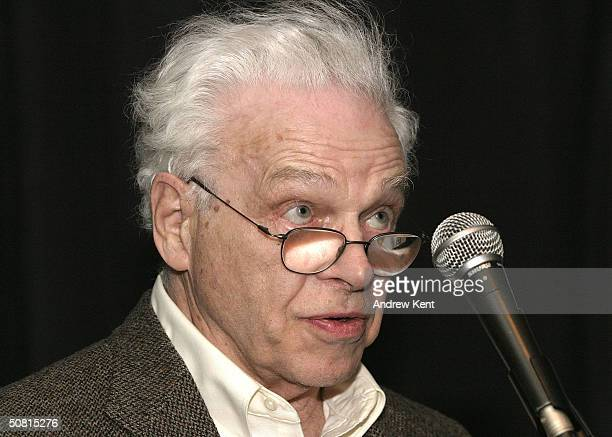 David Sayre speaks at the Unraveling The Code Rosalind Franklin and DNA panel during the 2004 Tribeca Film Festival May 8 2004 in New York City