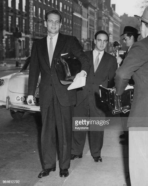 David Schine and Roy Cohn , consultants in Senator McCarthy's crusade against Communism, visit London during their tour of Europe in search of...
