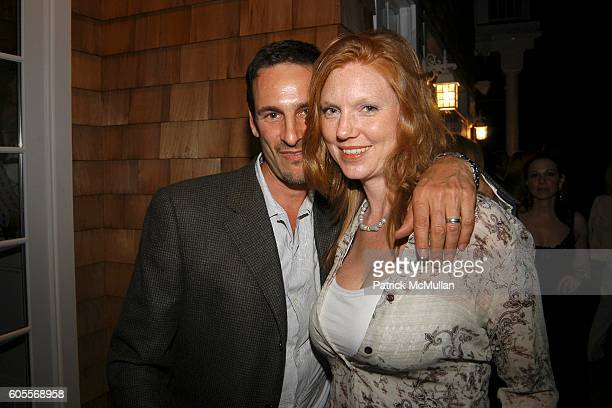 David Schlachet and Lara Schlachet attend Bettina Zilkha Lucy and Euan Rellie Kick Off the Summer Dinner at Cain Estate on May 26 2006 in Southampton...