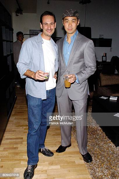 David Schlachet and Shaokao Cheng attend KolDesign/BoConcept 5th Annual Holiday Party at BoConcept on December 11 2007 in New York City