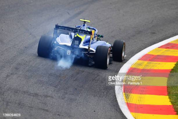 David Schumacher of Germany and Carlin Buzz Racing drives during practice for the Formula 3 Championship at Circuit de Spa-Francorchamps on August...
