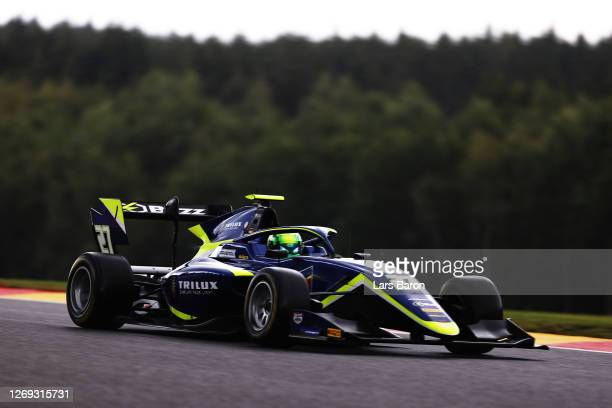 David Schumacher of Germany and Carlin Buzz Racing drives on track during qualifying for the Formula 3 Championship at Circuit de Spa-Francorchamps...