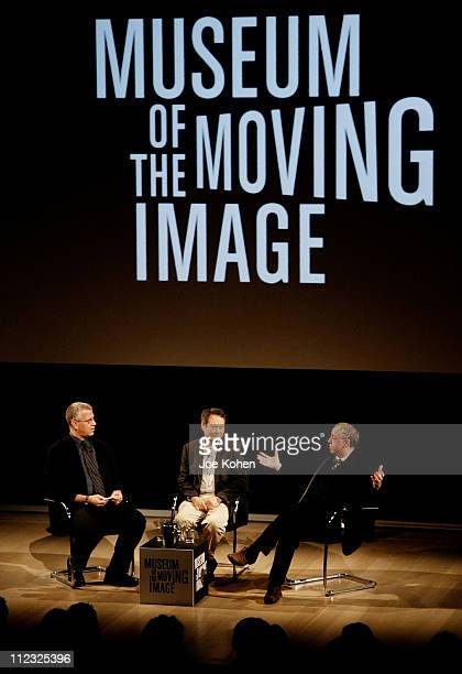 David Schwartz Curator of the Museum of The Moving ImageDirector Ang Lee and Writer/Producer James Schamus at a panel discussion presented by the...