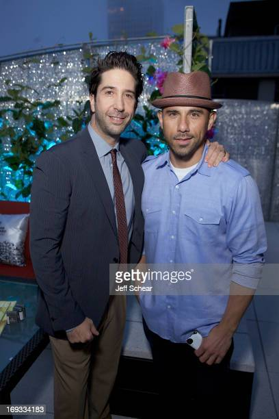 David Schwimmer and Billy Dec attend Michigan Avenue Magazine Celebrates Cover Star David Schwimmer With Russian Standard Vodka At The Dec Rooftop...