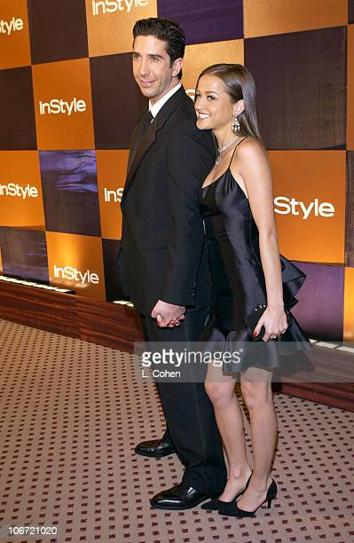 David Schwimmer and Carla Alapont during InStyle Magazine Hosts Fourth Annual PostGolden Globes Party to Honor Hollywood's Elite Arrivals at The...