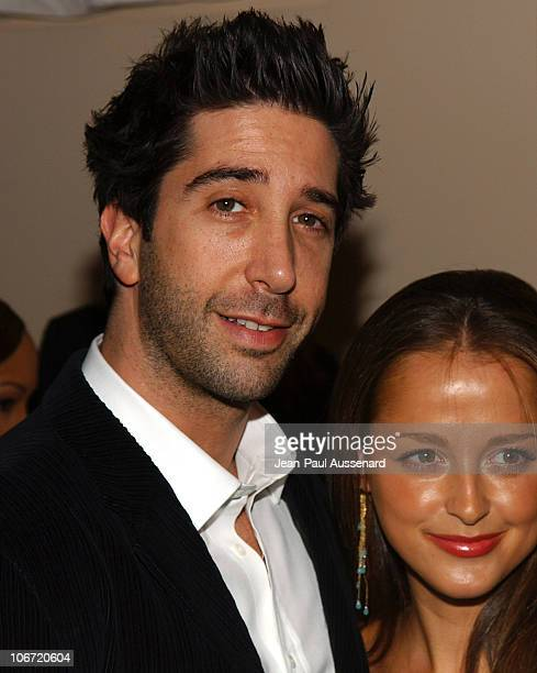 David Schwimmer and Carla Alapont during The Museum of Television and Radio Honors CBS News's Dan Rather and Friends Producing Team Inside at Beverly...