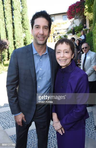 David Schwimmer and Gail Abarbanel attend The Rape Foundation's Annual Brunch on October 8 2017 in Beverly Hills California