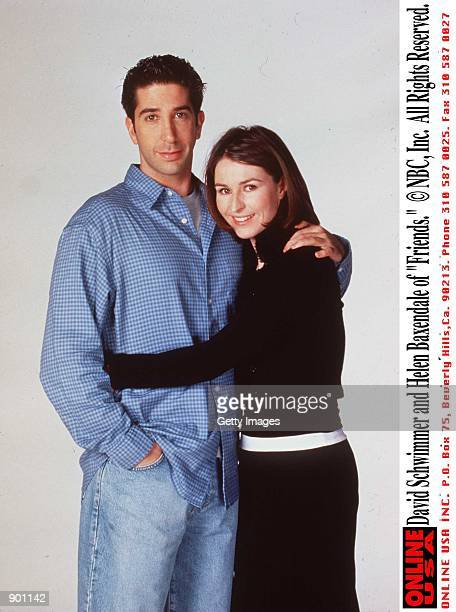 "David Schwimmer and Helen Baxendale of ""Friends."""