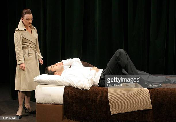 David Schwimmer and Lesley Manville during Some Girl Play Photocall May 19 2005 at Gielgud Theatre in London in London United Kingdom