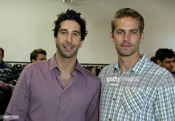 David Schwimmer and Paul Walker during John Varvatos and 'Shop To Show Your Support' at the 2nd Annual Stuart House Benefit Event at John Varvatos...