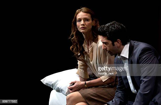 David Schwimmer and Saffron Burrows in the production of Some Girls at the Gielgud Theater in London Playwright Neil LaBute