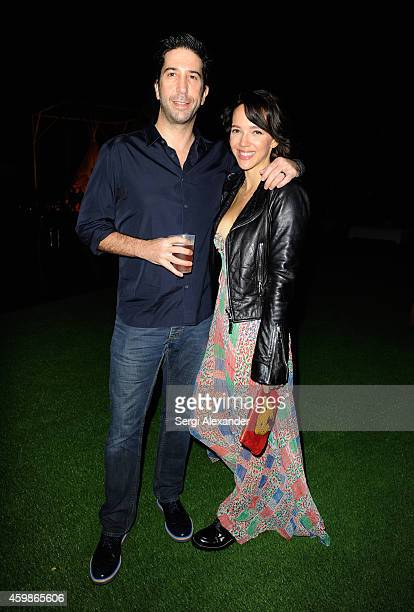 David Schwimmer and Zoe Buckman attend Mondrian South Beach Kicks Off Art Basel Miami Beach 2014 at Mondrian South Beach on December 2 2014 in Miami...