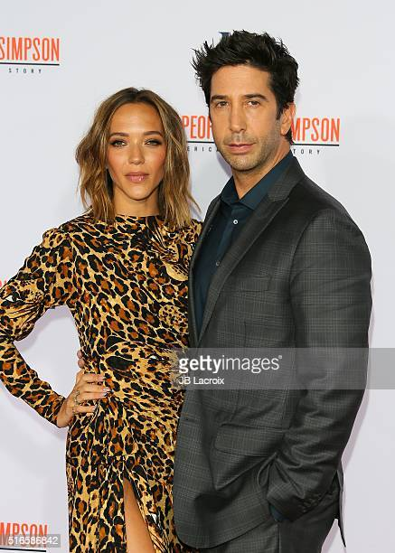 David Schwimmer and Zoe Buckman attend the premiere of FX's 'American Crime Story The People V OJ Simpson' at Westwood Village Theatre on January 27...