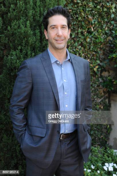 David Schwimmer arrives at The Rape Foundation's Annual Brunch at a private residence on October 8 2017 in Los Angeles California