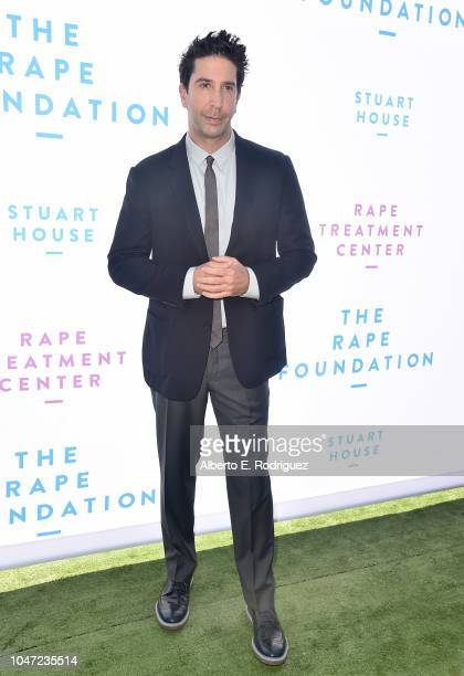 David Schwimmer attends The Rape Foundation's Annual Brunch on October 7 2018 in Beverly Hills California
