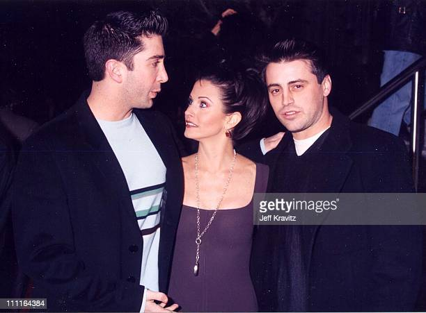 David Schwimmer Courteney Cox Matt LeBlanc during 'Scream' Premiere in Los Angeles California United States