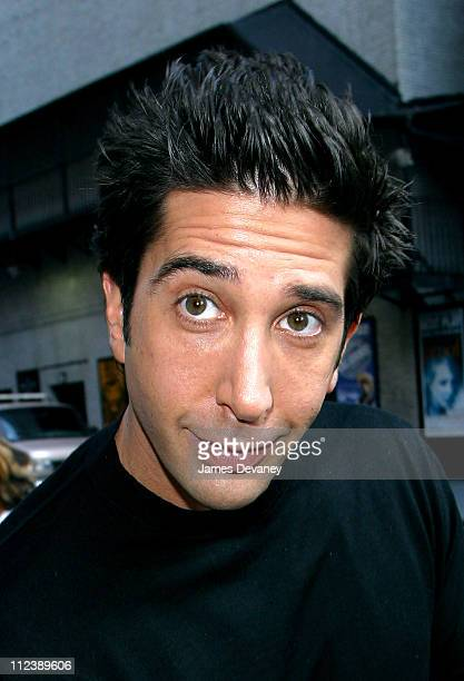 David Schwimmer during David Schwimmer and Avril Lavigne Visit the Late Show with David Letterman October 1 2002 at Ed Sullivan Theatre in New York...