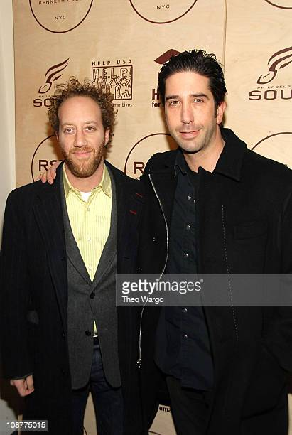 David Schwimmer during Kenneth Cole's R.S.V.P to HELP Hosted by Jon Bon Jovi and Kenneth Cole - Arrivals at Soho Grand and Tribeca Rooftop in New...