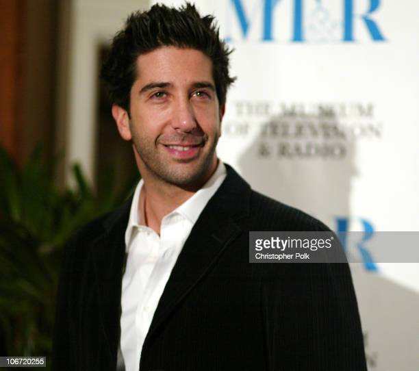 David Schwimmer during The Museum Of Television Radio To Honor CBS News's Dan Rather And Friends Producing Team at The Beverly Hills Hotel in Beverly...