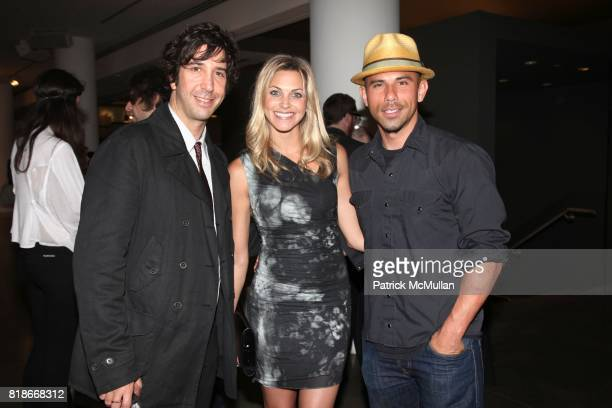 David Schwimmer Kat Dec Billy Dec attend the Opening of Zoe Buckman's Loos at MILK Gallery on June 01 2010 in New York City