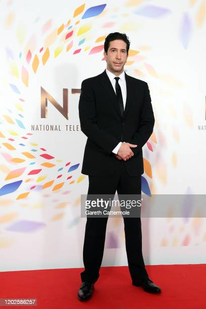 David Schwimmer poses in the winners room during the National Television Awards 2020 at The O2 Arena on January 28 2020 in London England
