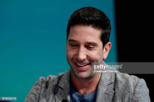 David Schwimmer speaks onstage during the DDB Worldwide session at the Cannes Lions Festival 2018 on June 20 2018 in Cannes France