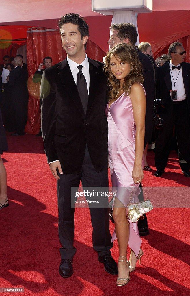 David Schwimmer, wearing Ermenegildo Zegna, and Carla Alapont