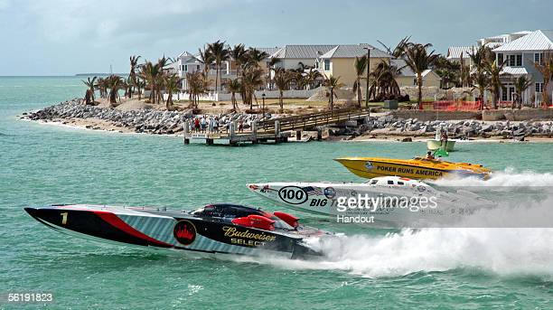 David Scott of Edwardsville Illinois leads Big Thunder at the starting flag during the first of three race days at the Key West World Championship...