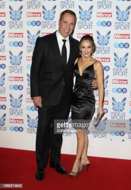 David Seaman and Frankie Poultney at The Mirror Pride of Sport Awards at Grosvenor House in Park Lane