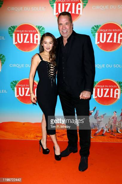 David Seaman and Frankie Poultney attend Cirque du Soleil's LUZIA at Royal Albert Hall on January 15 2020 in London England