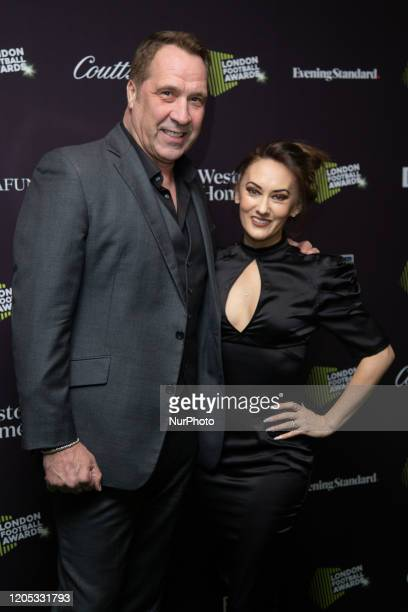 David Seaman and Frankie Poultney attend London Football Awards at The Roundhouse on March 05 2020 in London UK