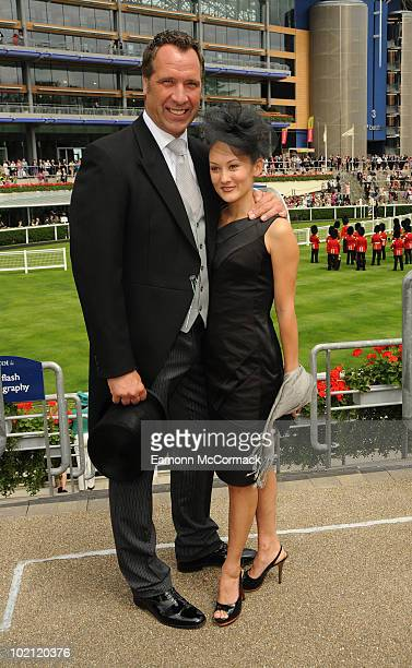 David Seaman and Frankie Poultney attend Royal Ascot at Ascot Racecourse on June 15 2010 in Ascot England