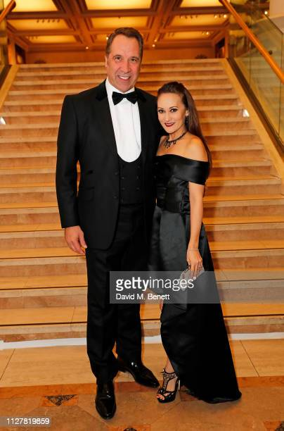 David Seaman and Frankie Poultney attend The Beating Hearts Ball in support of The British Heart Foundation at The Guildhall on February 27 2019 in...