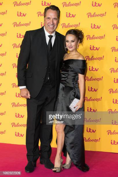 David Seaman and Frankie Poultney attend the ITV Palooza held at The Royal Festival Hall on October 16 2018 in London England