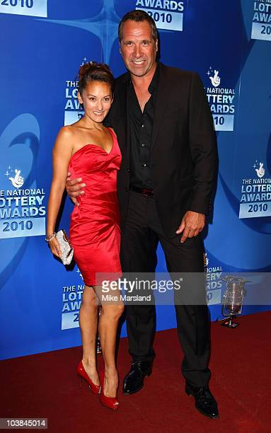 David Seaman and Frankie Poultney attend the National Lottery Awards at The Roundhouse on September 4 2010 in London England
