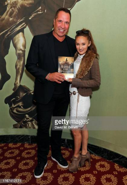 David Seaman and Frankie Poultney attend the press night performance of Heartbeat Of Home at The Piccadilly Theatre on September 11 2019 in London...