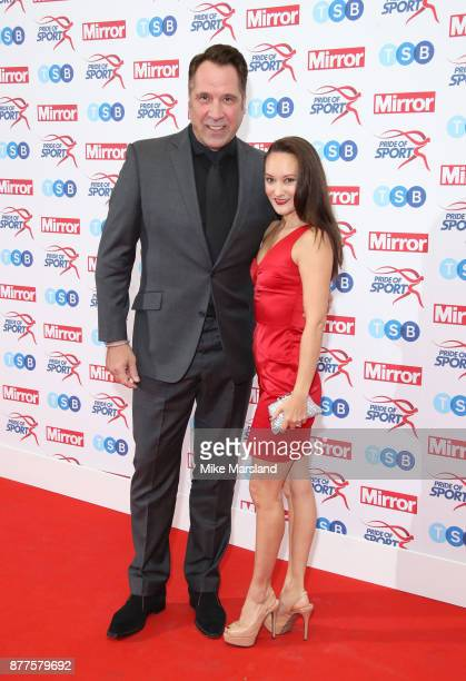 David Seaman and Frankie Poultney attend the Pride of Sport awards at Grosvenor House on November 22 2017 in London England