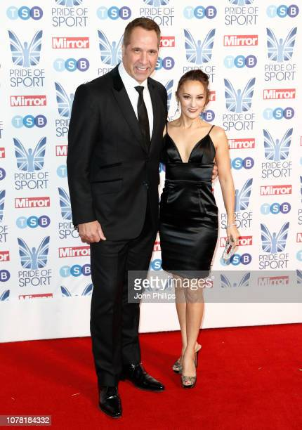 David Seaman and Frankie Poultney attend the Pride of Sport awards 2018 at Grosvenor House on December 06 2018 in London England