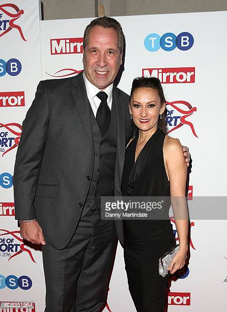 David Seaman and Frankie Poultney attends the Daily Mirror's Pride of Sport awards at The Grosvenor House Hotel on December 7 2016 in London England
