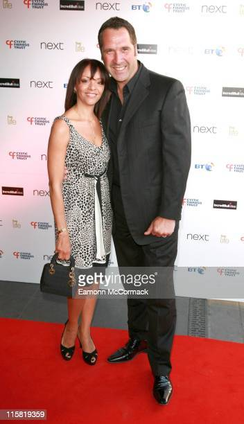 David Seaman and his wife during Cystic Fibrosis Trust 'Breathing Life Awards' – Red Carpet Arrivals at Hilton London Metropole in London Great...