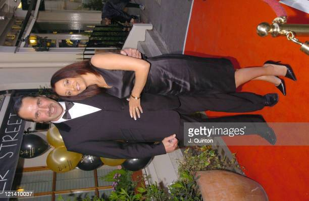 David Seaman and wife during Dover Street Restaurant 25th Birthday Charity Party at Dover Street Restaurant in London Great Britain