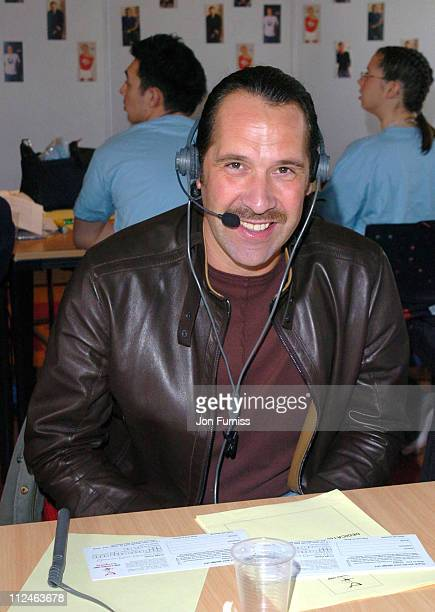 David Seaman during Capital FM 'Help A London Child' Fundraiser at Capital Fm in London Great Britain