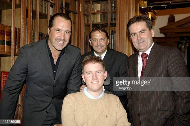 David Seaman Gary Mabbutt and Richard Keys during The Willow Foundation Press Launch at The Library Marriot County Hall Hotel in London Great Britain