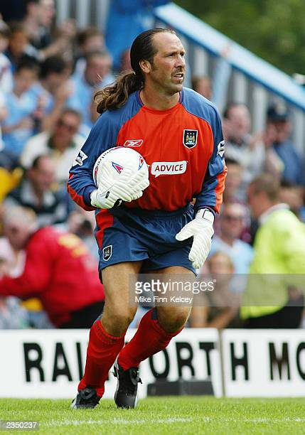 David Seaman of Manchester City in action during the Pre-Season Friendly match between Mansfield Town and Manchester City held on July 19, 2003 at...