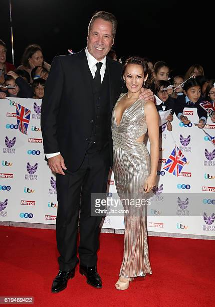 David Seaman with his wife Frankie Poultney attend the Pride Of Britain awards at the Grosvenor House Hotel on October 31 2016 in London England