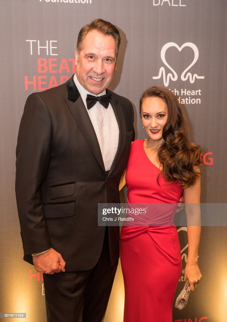 David Seamen and his wife Frankie attends the British Heart Foundation's 'The Beating Hearts Ball' at The Guildhall on February 20, 2018 in London, England.