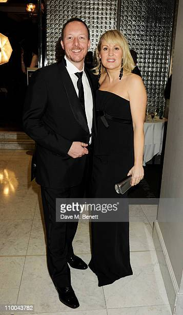 David Shackleton and Nicki Chapman attend a postawards gala party following The Olivier Awards 2011 at The Waldorf Hilton Hotel on March 13 2011 in...