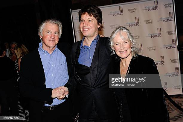 David Shaw musician Joshua Bell and actress Glenn Close attend the 2013 Education Through Music Benefit Gala at Cipriani 42nd Street on April 10 2013...