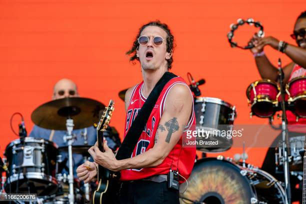 David Shaw of the Revivalists performs at the Lollapalooza Music Festival at Grant Park on August 04 2019 in Chicago Illinois