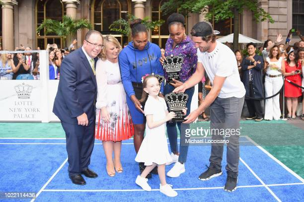 David Shenman Becky Hubbard Serena Williams Venus Williams and Mischa Zverev attend 2018 Lotte New York Palace Invitational on August 23 2018 in New...